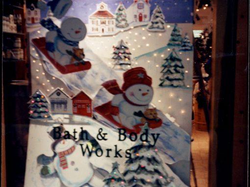 Bath & Body Works   Animated Christmas Window Display